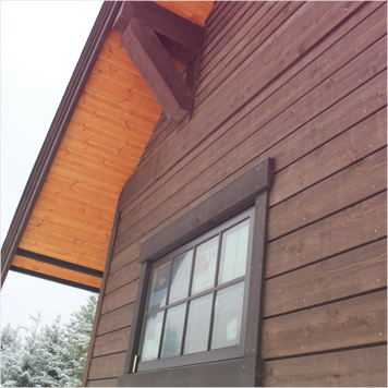 Wood Panel Siding on House
